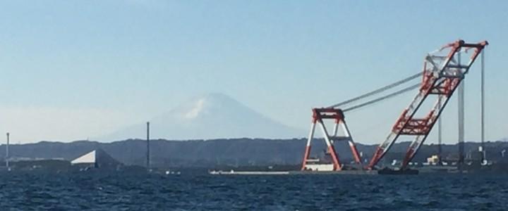 富士山と○○○○○○船